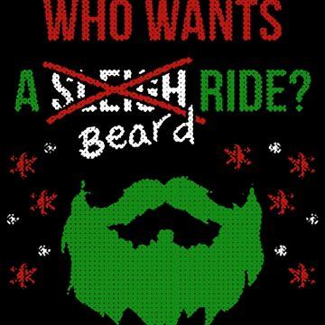 Beard Christmas Hipster Xmas by NovaPaint
