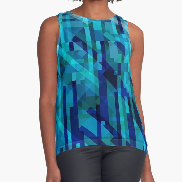 abstract composition in blues Sleeveless Top