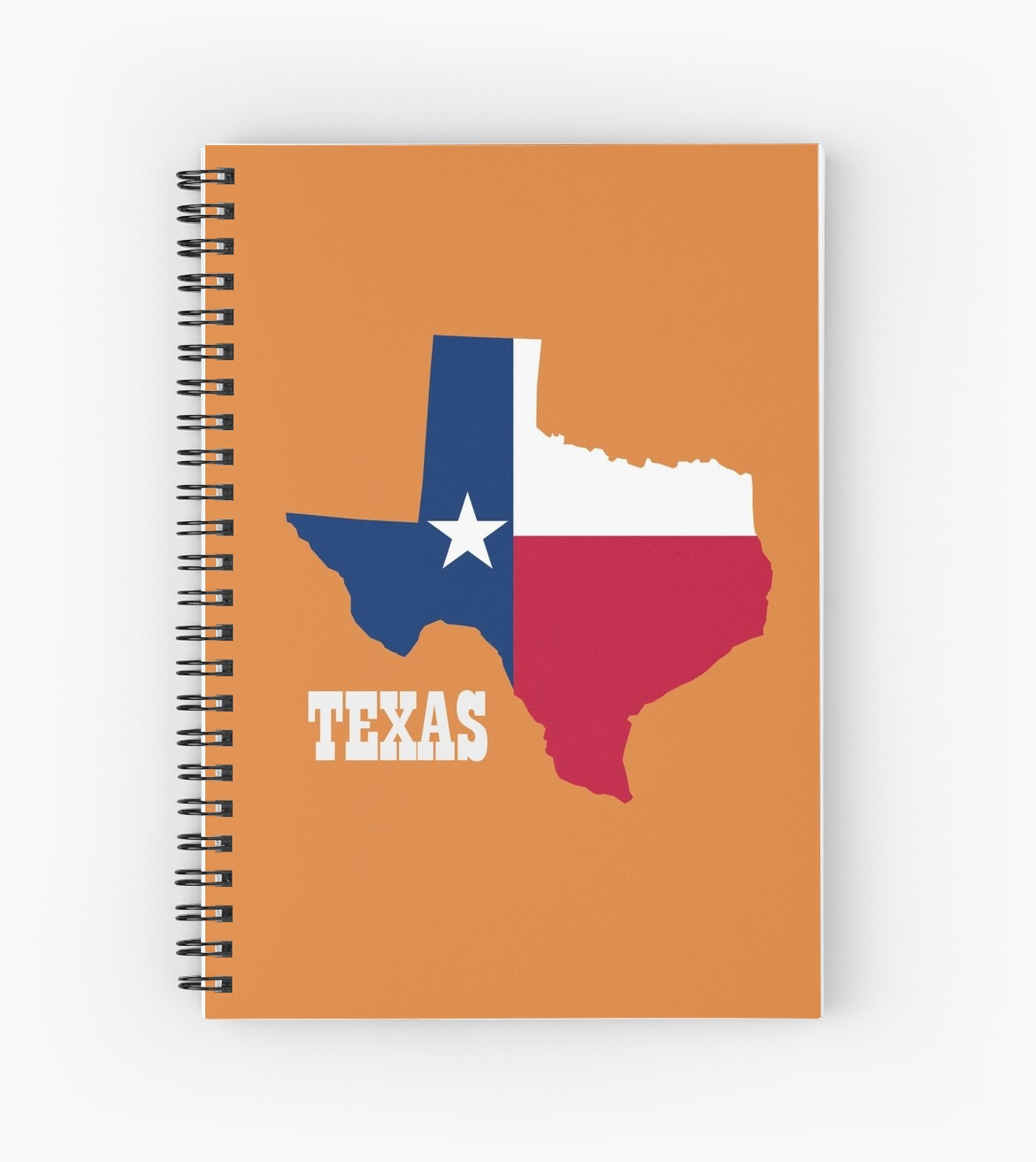 Texas pride - flag state cutout  by rachjacobs