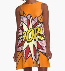 Comic Book Pop Art POP Superhero flash A-Line Dress