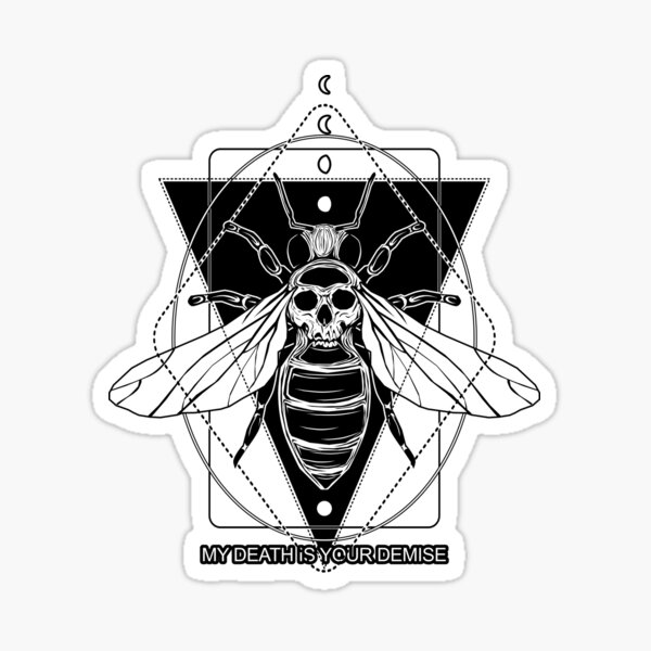 KILLER BEE - save the bees! Sticker