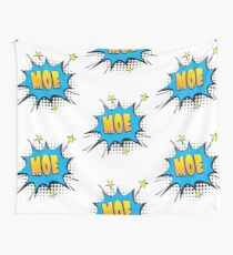 Comic book speech bubble font first name Moe Wall Tapestry