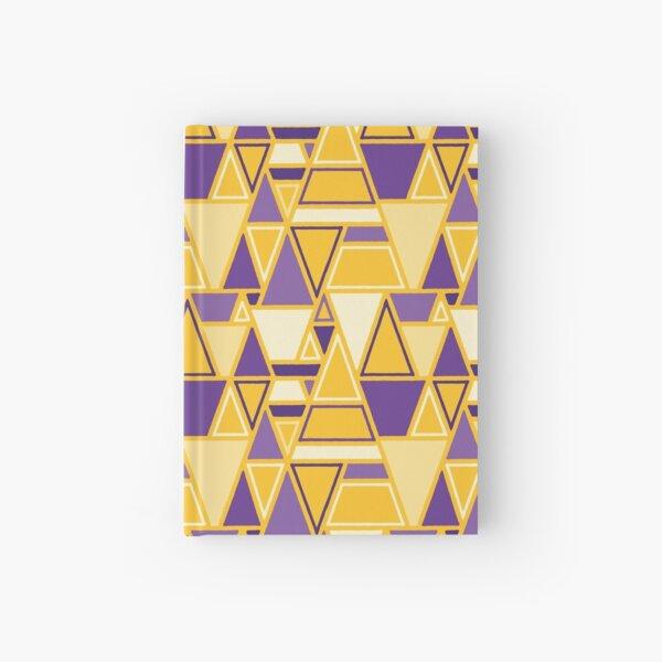 Angular - Geometric Pattern (Purple and Yellow) Hardcover Journal