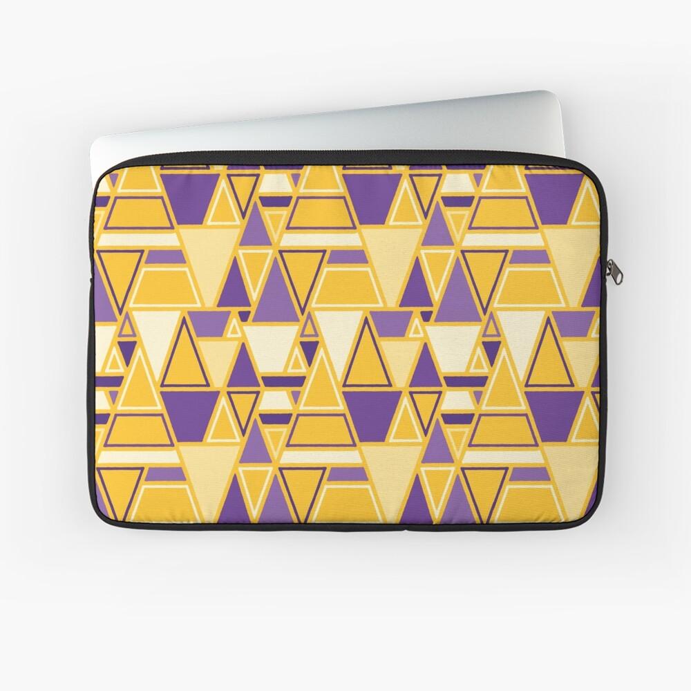 Angular - Geometric Pattern (Purple and Yellow) Laptop Sleeve