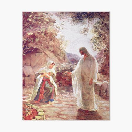 Jesus Appears To Mary Magdalene Art Board Print