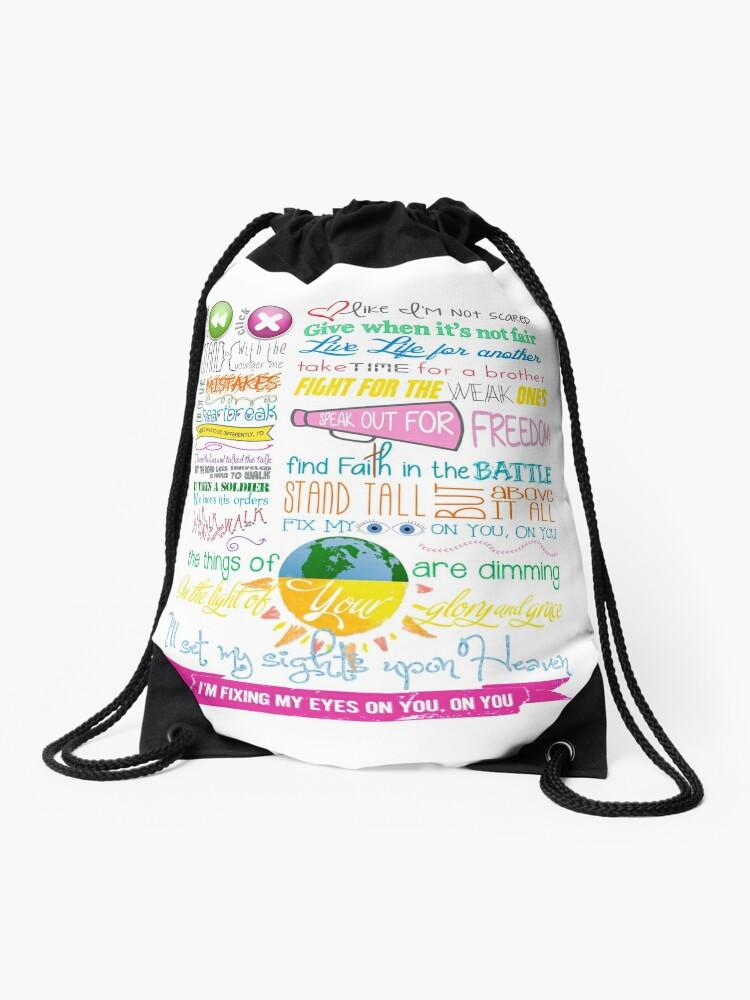 Fix My Eyes Lyrics - For King & Country | Drawstring Bag