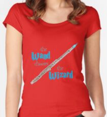The Flute Chooses the Wizard Women's Fitted Scoop T-Shirt