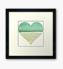 I Heart the Beach Framed Print