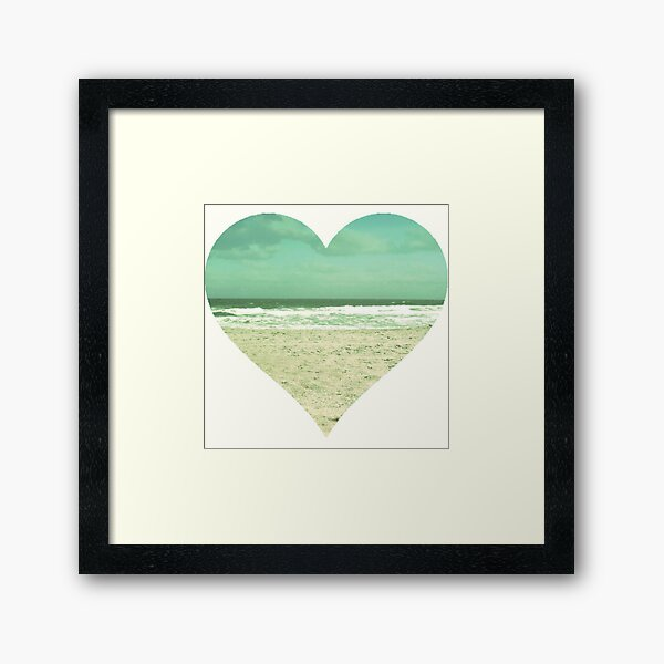 I Heart the Beach Framed Art Print