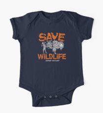 Speichern Sie Wildlife ~ Bison Baby Body Kurzarm
