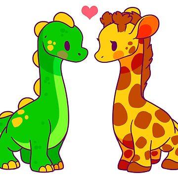 Dinosaur x Giraffe by Kuio