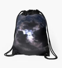 Moon Lite Clouds Drawstring Bag