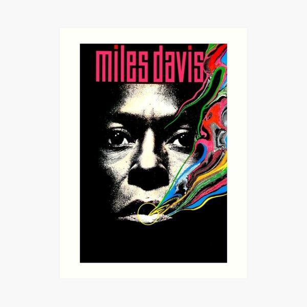 Miles Vintage Davis Concert Retro  Art Print