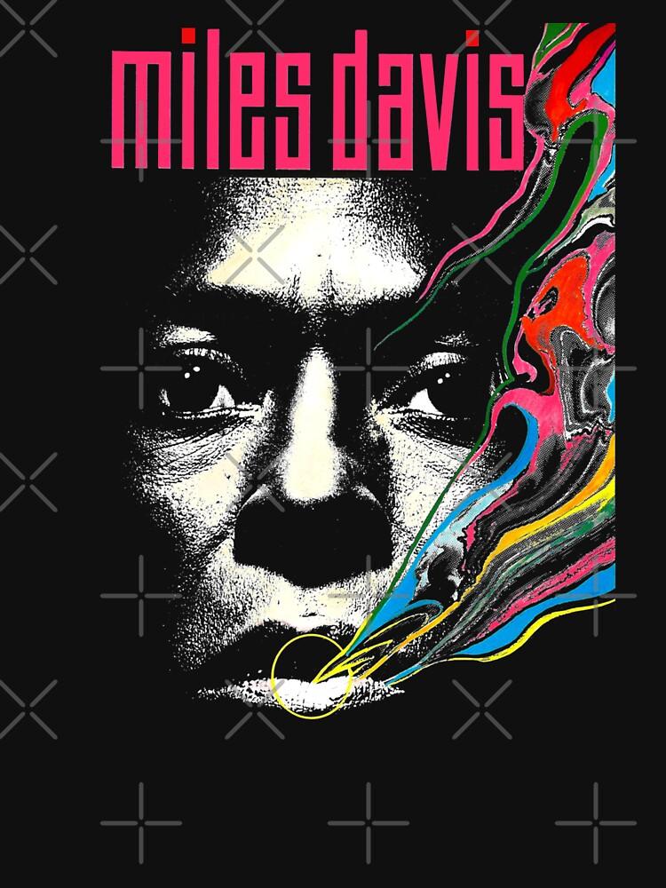 Miles Vintage Davis Concert Retro  by threeampersands