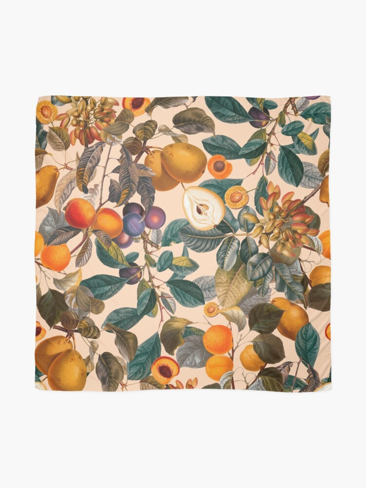 Alternate view of Vintage Fruit Pattern IX Scarf