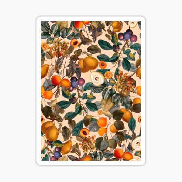 Vintage Fruit Pattern IX Sticker