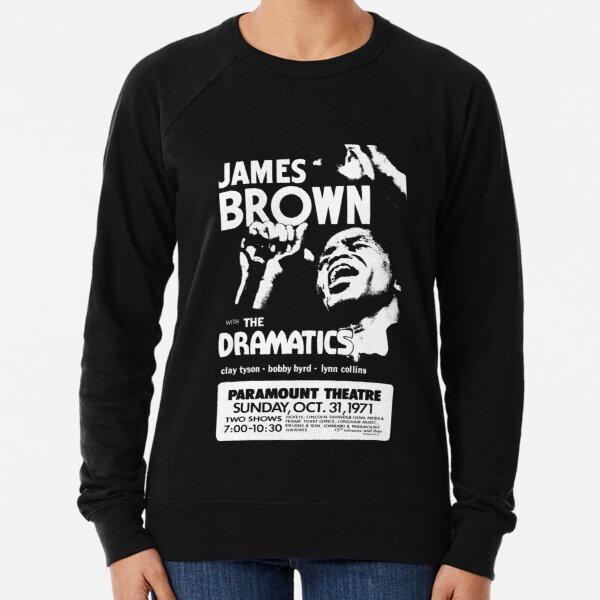 James Vintage Brown Concert Retro Lightweight Sweatshirt