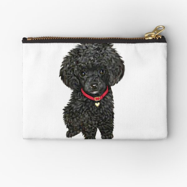 Poodle - Miniature Black Pup Zipper Pouch