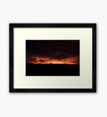 The World Was On Fire Framed Print