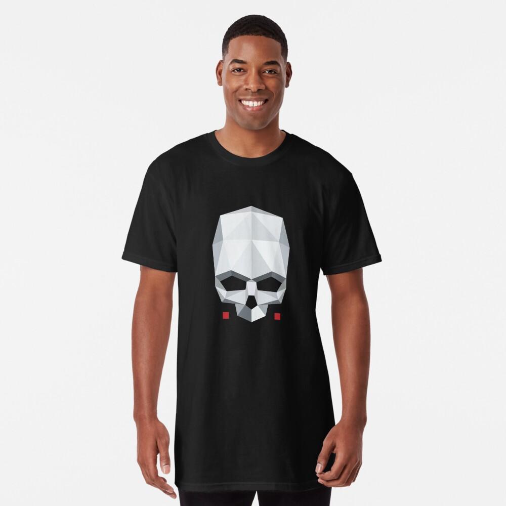 T-shirt long «Tête de mort en Origami»