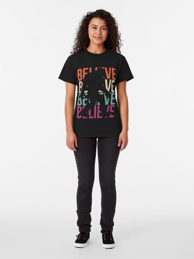 Alternate view of Bigfoot T-shirt I Believe Bigfoot Sasquatch Yeti Funny Shirt Classic T-Shirt