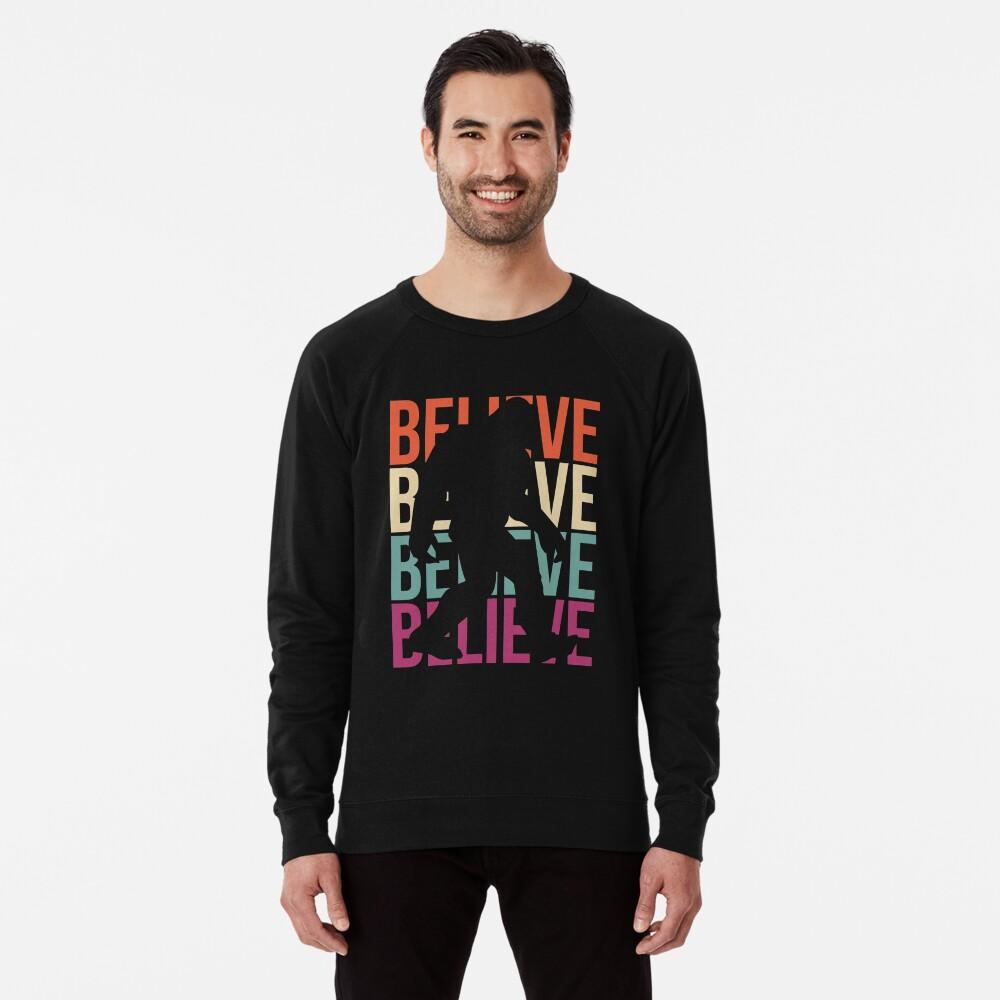 Bigfoot T-shirt I Believe Bigfoot Sasquatch Yeti Funny Shirt Lightweight Sweatshirt