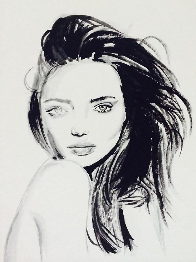 Miranda Kerr Portrait by richardxgao