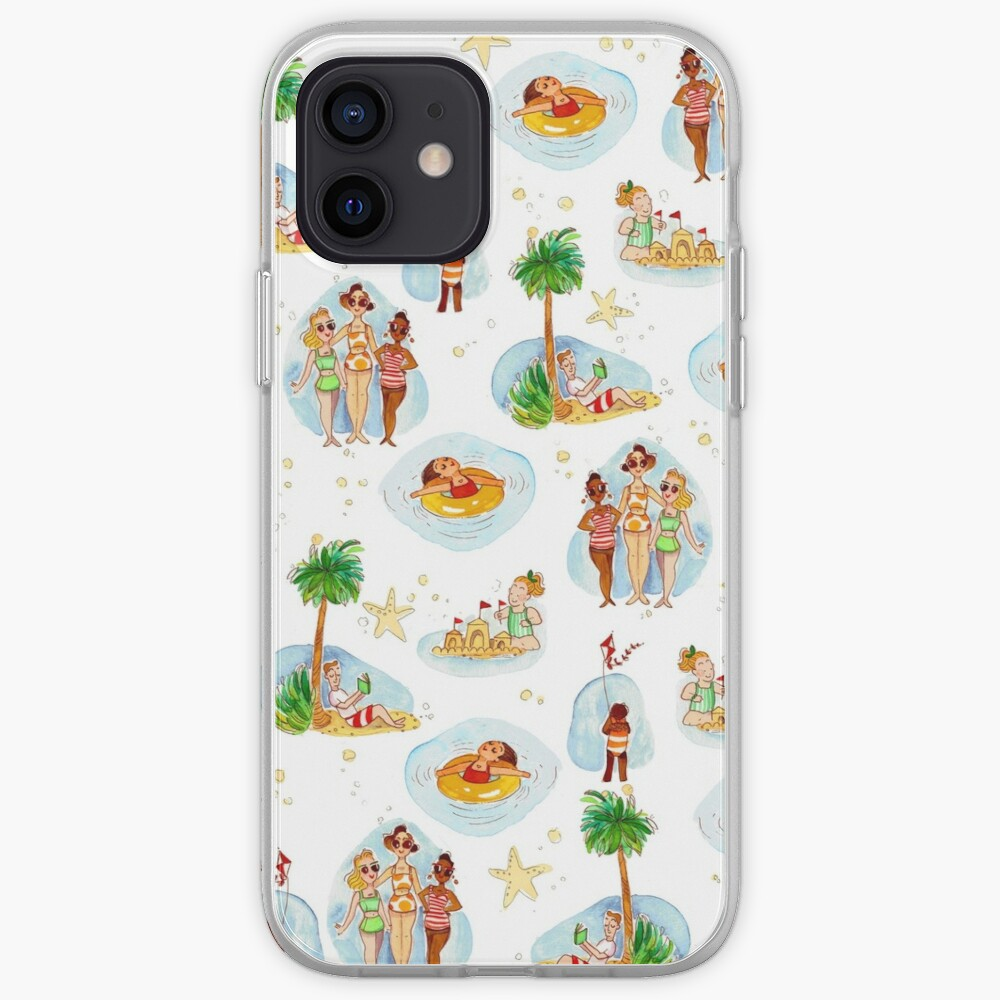 Vintage Beach Toile iPhone Case & Cover