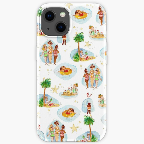Vintage Beach Toile iPhone Soft Case