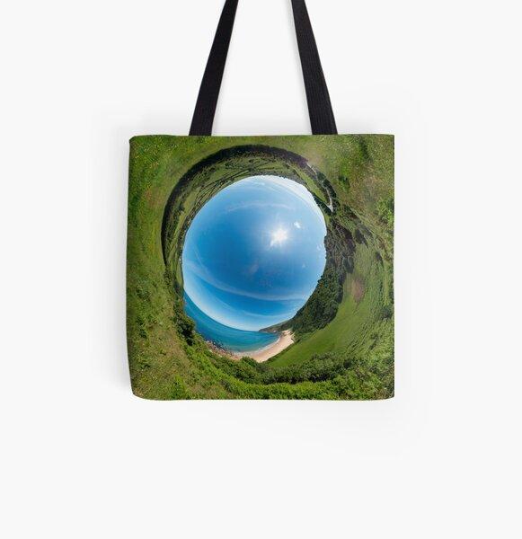 Kinnagoe Bay - Sky In All Over Print Tote Bag
