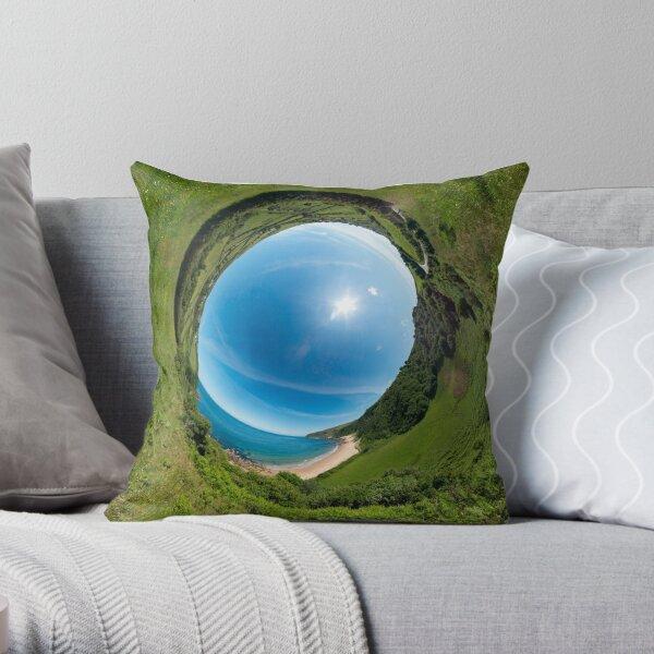 Kinnagoe Bay - Sky In Throw Pillow