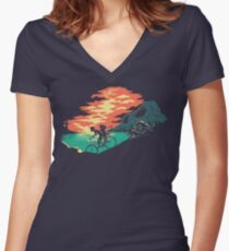 Love Adventure Women's Fitted V-Neck T-Shirt
