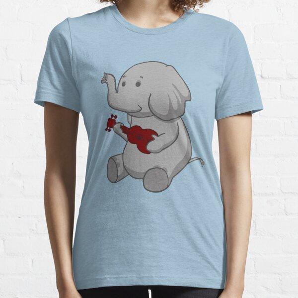 Elephant Loves Her Ukulele  Essential T-Shirt