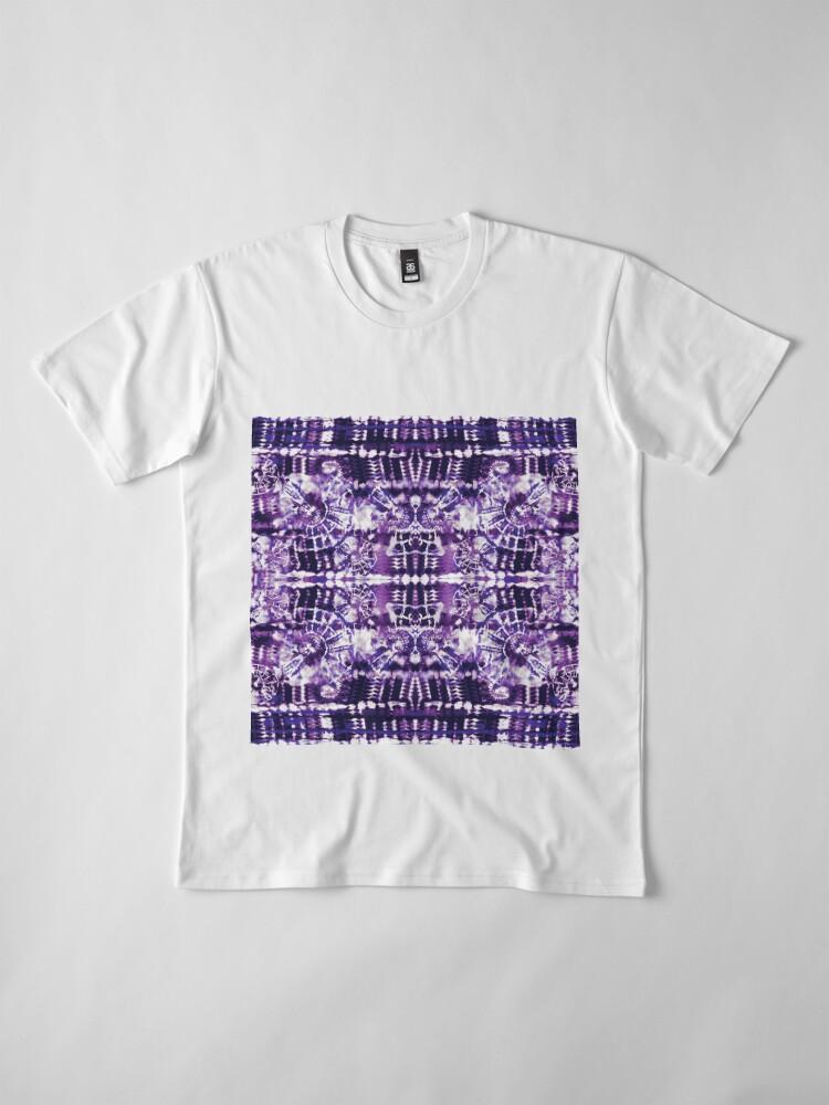 Alternate view of Tie-Dye Spiral Shibori Premium T-Shirt