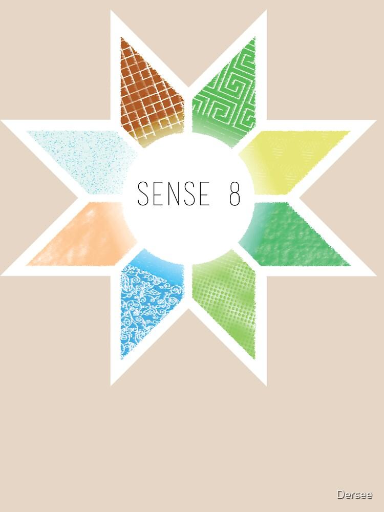 Sense8 Star Logo Yellow by Dersee