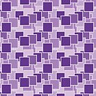 Paper Piles - Geometric Pattern (Purple) by mariomartin