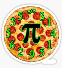 Pizza Pi Day Sticker