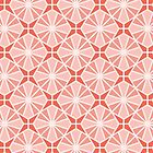 Islamic Ceramic - Geometric Pattern (Coral Orange) by mariomartin