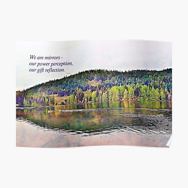 Mirrors - Image and Haiku Poster