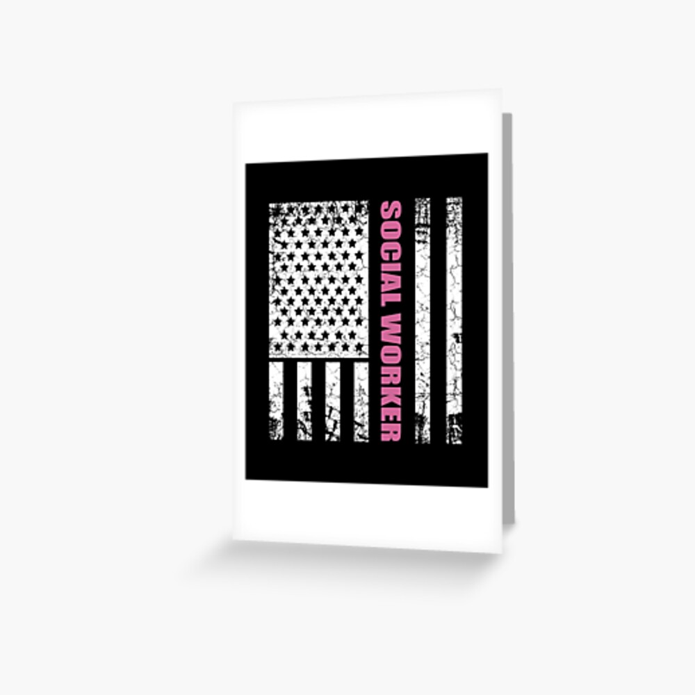 Social worker USA American gift Greeting Card