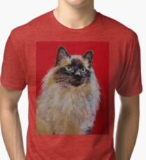 Siamese Cat Portrait Tri-blend T-Shirt