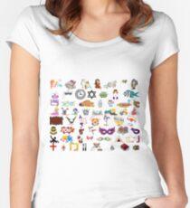 #Purim #clip #art #sketch fun collection cute design snowman Women's Fitted Scoop T-Shirt