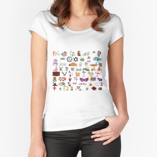 Jewish,  #Purim #clip #art #sketch fun collection cute design snowman Fitted Scoop T-Shirt