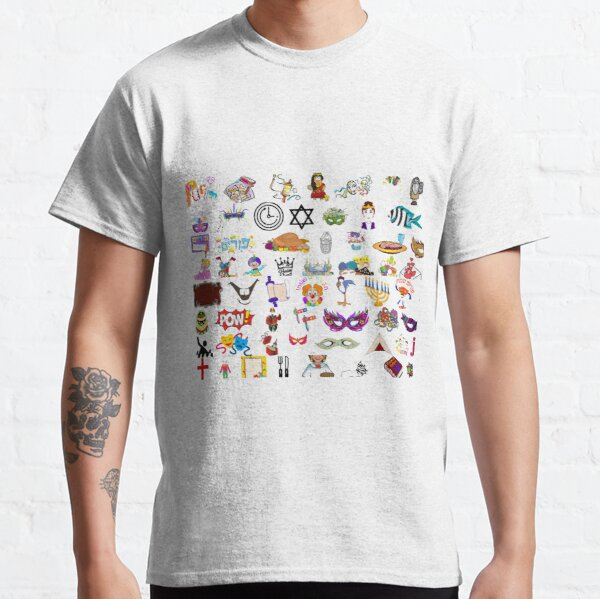 #Purim #clip #art #sketch fun collection cute design snowman Classic T-Shirt