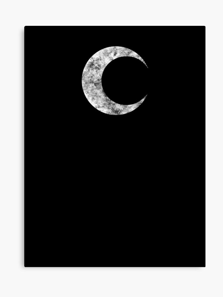Moon Knight - Classic Symbol - White Dirty | Canvas Print