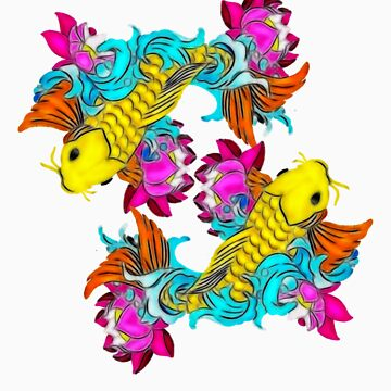 Two Koi fish by Mickie
