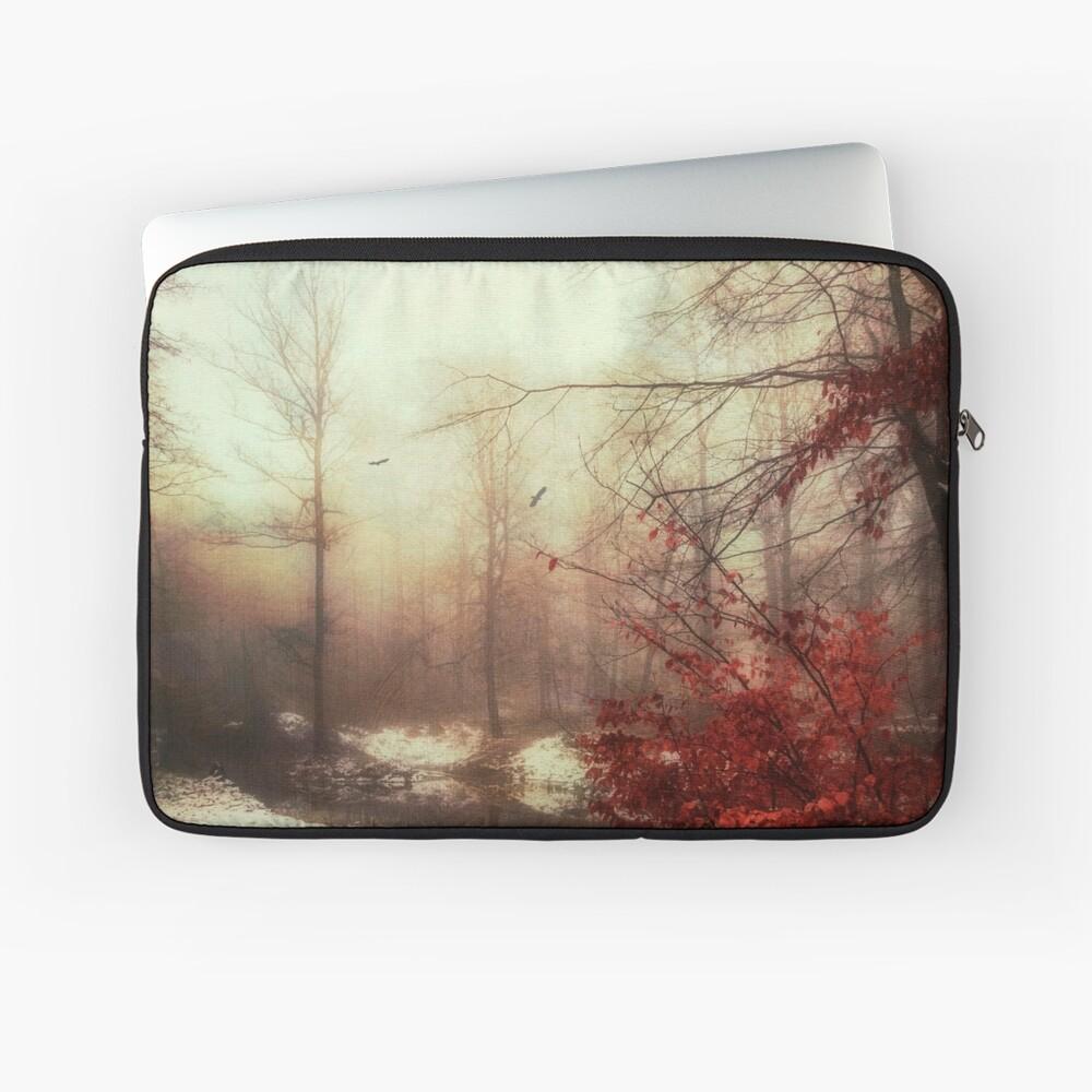 Last Copper - Misty Winter Scene Laptop Sleeve