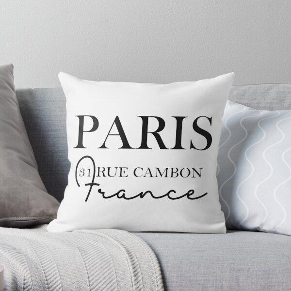 Chanel Address, Paris, France, 21 Rue Cambon, Chanel Throw Pillow