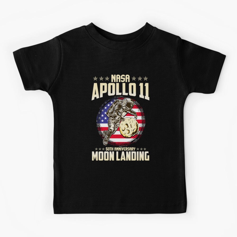 Moon Landing T Shirt Nasa Apollo 11 50th Anniversary 1969-2019 Gift Kids Tee Top