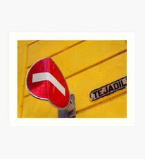 Bent no entry sign, Havana, Cuba Art Print